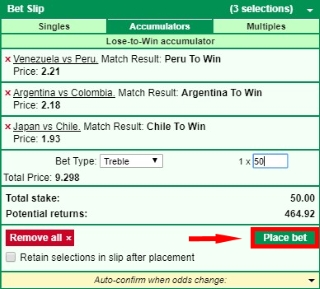 How to place a bet at Marathonbet?